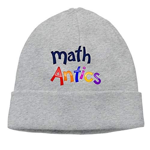 Wjgkgt Math Antics Unisex Soft Cotton Warm Hedging Cap,One Size Gray