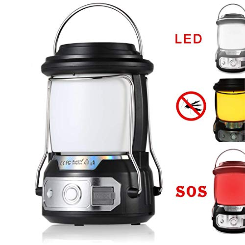 seenlast Rechargeable Camping Lanterns Flashlight Super Bright Lanterns 5200mAh Power Bank with USB Cable Suitable for Camping, Hiking, Outdoor Recreations