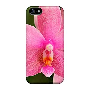 Durable Case For The Iphone 5/5s- Eco-friendly Retail Packaging(beautiful Pink Orchids (for Shebina))