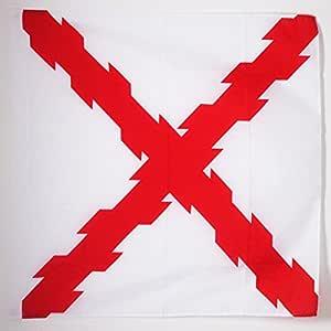 AZ FLAG Bandera de la Cruz DE BORGOÑA 90x90cm para Palo - Bandera ...