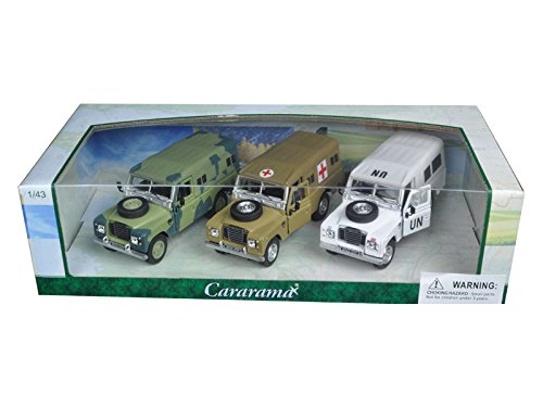 Land Gift Set - Land Rover Series III Military 3pc Gift Set 1/43 by Cararama 35315