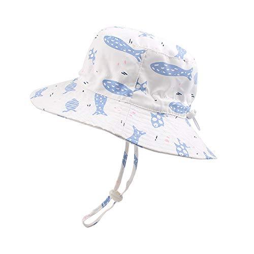 - Summer Sun Hat for Baby Boys Outdoor Toddler Girls Bucket Hat Wide Brim Adjustable Kids Beach Cap (Clown Fish, L)