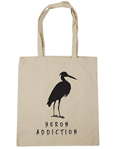 Heron Natural Addiction litres Shopping Tote x38cm Bag 10 Beach 42cm HippoWarehouse Gym 6UqHgndHw