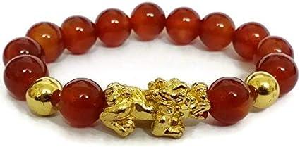 Feng Shui 12mm agate Stone Pi Yao //Pi Xiu Bracelet For Wealth Luck
