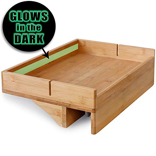 Bunk Bed Shelf for Top Bunk with Glow in The Dark Wayfinding Strip. Easy to Install Kids Bed Shelf Attachment & Bunk Buddy. Bedside Shelf Organizer or Bunk Bed Tray Table - Dorm Loft Bed Accessories ()