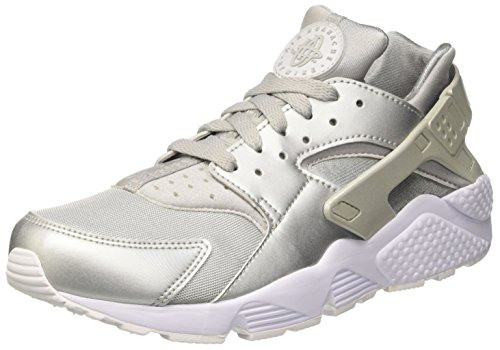 Nike Mens Air Huarache Metalic Silver Nylon Size 10