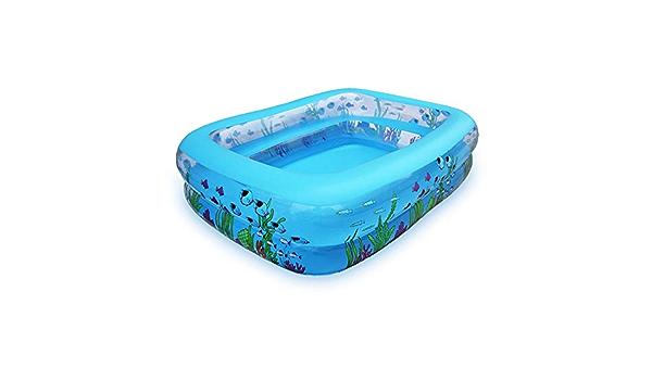 Piscina inflable Centro familiar de natación Piscina multifuncional plegable Durable Tinas de baño para adultos Piscina inflable 2 anillos Piscina familiar (Color : Azul , tamaño : 305*191*51CM) : Amazon.es: Hogar