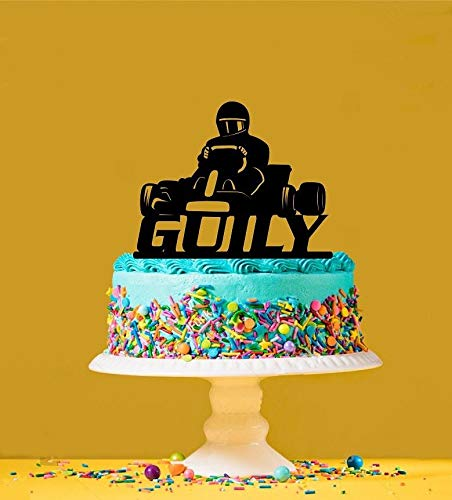 Personalised Karting Acrylic Cake Topper by Tamengi