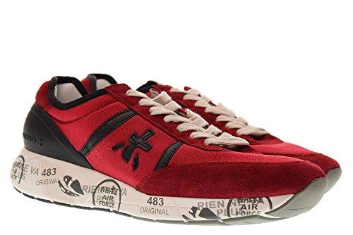 PREMIATA Scarpe Uomo Sneakers Basse Hanzo 2907 rosso