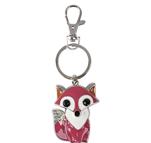2'' METAL FOX CLIP-ON KEYCHAIN, Case of 144
