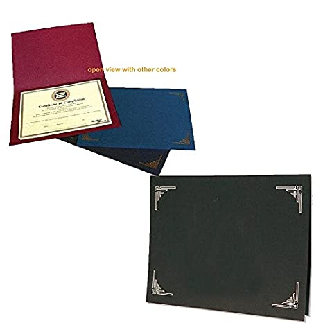 Amazon.com : Black Certificate Folders for 8x10 or 8.50x11 Inserts ...