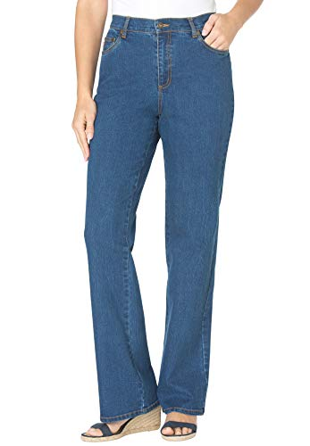 Women's Plus Size Petite Bootcut Stretch Jean by Woman Within
