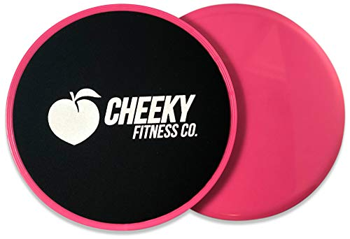 Cheeky Fitness  Core Exercise Sliders Set of 2   Dual Sided Gliding Discs for Abs and Full Body Workout Fitness Exercise Equipment   Use on Carpet or Hard Floor