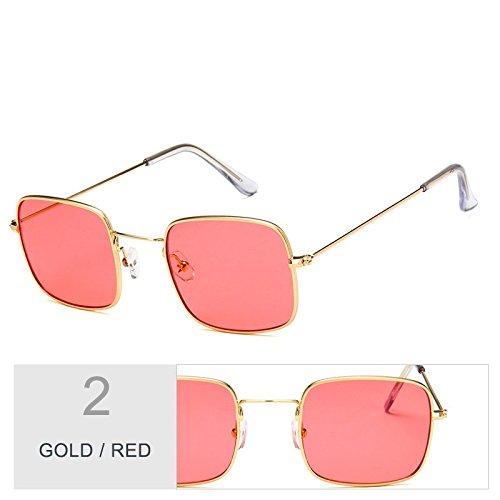 De Sobredimensionado Mujer Red Con Sol Sol Gold Plateado Marco Gafas De Gafas Claro TIANLIANG04 De Metal qx4IwTAYx