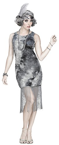 Fun World Women's Ghostly Flapper Costume, Multi -