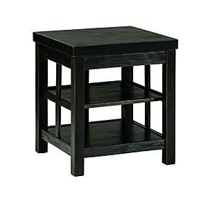 Ashley Furniture Signature Design - Gavelston Square End Table Rubbed, Black