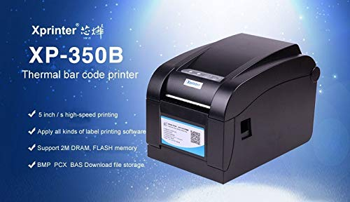 JT Xprinter XP 350B 80 mm 2 In 1 Direct Thermal Barcode and Receipt Printer