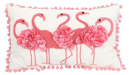(DEI Flamingo Accent Pillow, 10 by 16-Inch)