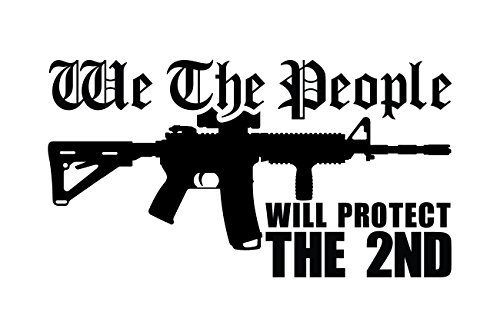 BAMFdecals We The People AR15 Will Protect The 2nd Amendment Vinyl Decal Sticker - Small - Black (People Decal Vinyl)