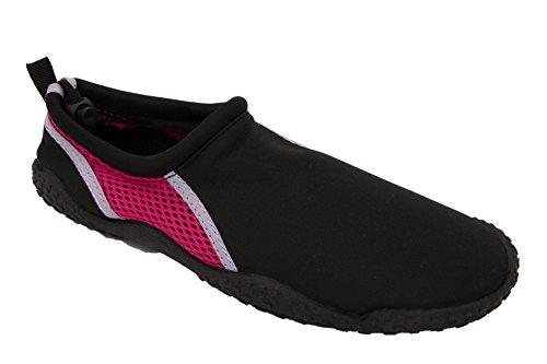 Easy Usa Womens Water Shoes Nero / Fucsia / Lilla