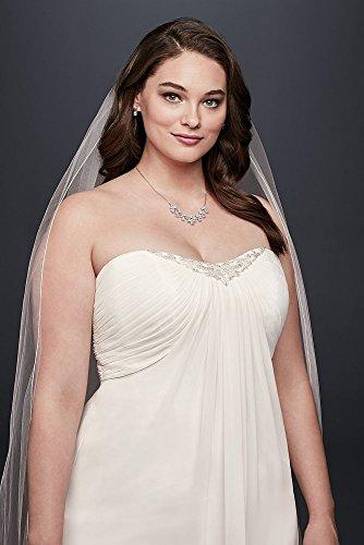 9OP1323 Bridal Pleated Size Style Dress Chiffon Strapless Ivory David's Wedding Plus zdBqzR