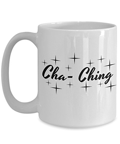 CEO Coffee Mug-Cha Ching-Funny CEO Cup-Perfect Novelty Gift Ideas for Men, Women, Business Chief Executive Officer and Others. - Interview Sunglasses