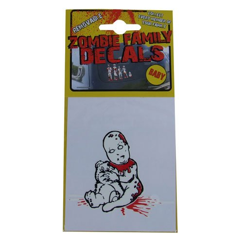 [Zombie Removable Family Decals Baby] (Zombie Family Decals)