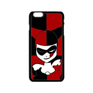 SKULL Black and red joker Cell Phone Case for Iphone 6