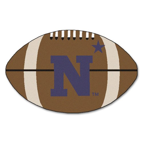 FANMATS NCAA US Naval Academy Midshipmen Nylon Face Football Rug
