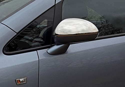 guidatore sinistro 2 pezzi per Opel//Vauxhall CORSA D 2006-2015 Hatchback 5 porte//3 porte in acciaio inox cromato specchietto retrovisore sinistro e destro