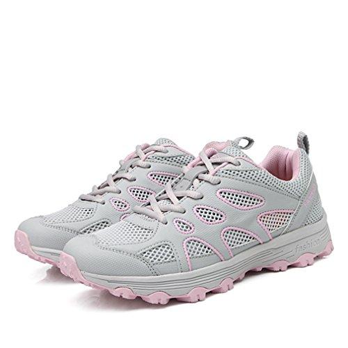 botas caño gris de Mujer XIGUAFR bajo 74qEwd