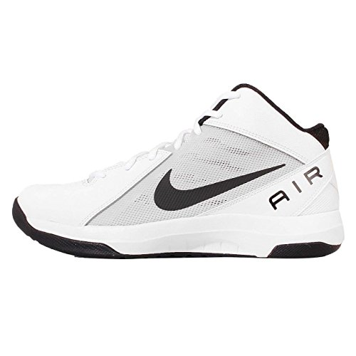 Nike Mens The Air Overplay IX White/Black/Pure Platinum - Nike Basketball Sneakers Black