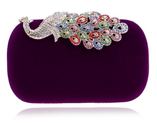 Mixed Color Wedding Bags Party Velvet Evening Small Dinner Clutch Ym1022purple Candy Bag HwcgHzq0p