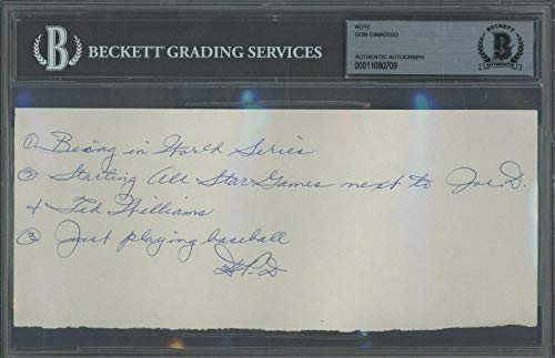 0709 Dom DiMaggio Signed Note AUTO Autograph Beckett BGS BAS - Beckett Authentication - MLB Cut Signatures