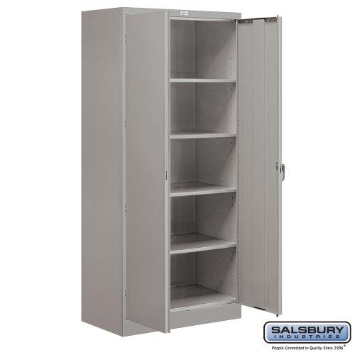 Salsbury Industries Assembled Standard Storage Cabinet, 78-Inch High by 18-Inch Deep, Gray ()