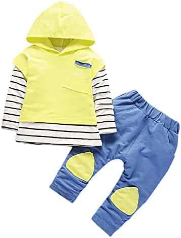 13ad5cd3f Sameno Baby Christmas Layette Set,Toddler Kids Baby Boy Girls Hooded Stripe  Outfits T-