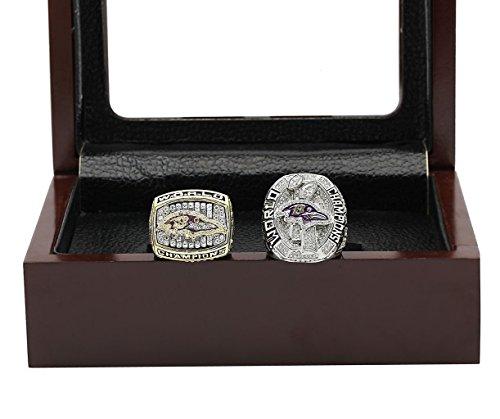 Baltimore Ravens 2000 Super Bowl (Baltimore' 2000 2012 Ravens Championship Ring with Display Box Set)