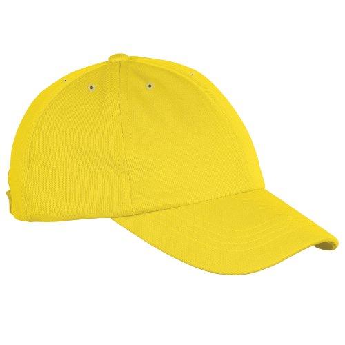 30 deportiva tecnología transpiracíon Just de Amarillo Gorra sol colores cool Visera con qFxSB8A