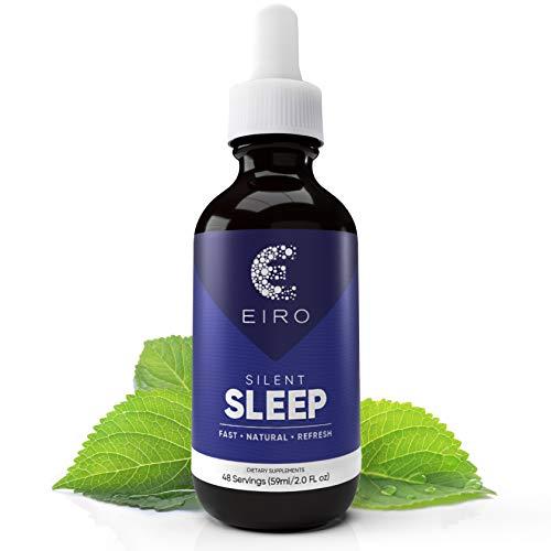 EIRO Silent Sleep All Natural Sleep Aid │ Fast Acting │ Melatonin, L-Theanine, Hops Flower, Proprietary Blend │ Non-Habit Forming Potent Formula