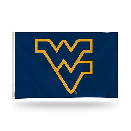 - Rico Industries NCAA West Virginia Mountaineers 3-Foot by 5-Foot Single Sided Banner Flag with Grommets