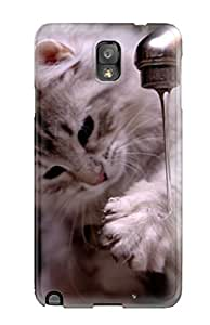 Miguel Jumique's Shop New Style 5751948K49974470 Protective Case For Galaxy Note 3(cat Playing With Water)