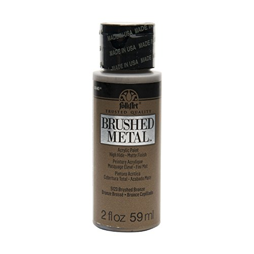 - FolkArt Brushed Metal Paint in Assorted Colors (2 oz), 5123 Bronze