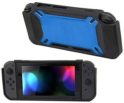 Carcasa de Goma TPU para Mando NS Nintendo Switch, Color Azul: Amazon.es: Electrónica