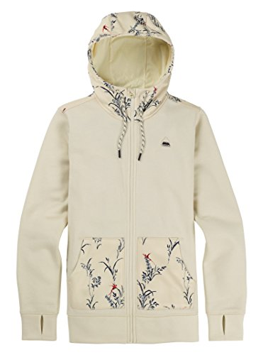 Burton Women's Oak Full-Zip Hoodie, Canvas Heather/Canvas Birds, Medium ()