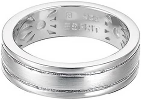 ESPRIT Women's Ring 925 Sterling Silver Rhodium Plated Silver