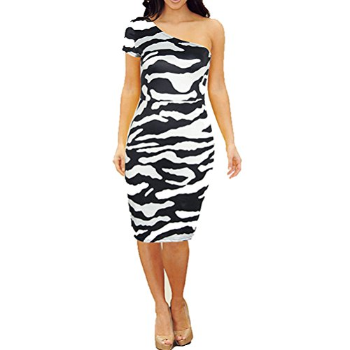 Zebra Print Long Dresses - 5
