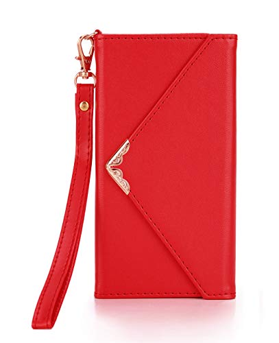 Crosspace iPhone Xs Max Case, iPhone Xs Max Wallet Case,Envelope Flip Handbag Shell Women PU Leather Slim Holster Magnetic Folio Cover with Card Holder Wrist Strap for iPhone Xs Max 6.5