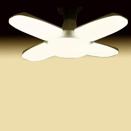 Hearthrousy Lámpara Plegable 80w E27 / E26 Bombilla LED Aspa del Ventilador Plegable Superbrillante Bombilla Plegable De Cuatro Hojas para Garaje Resalte La Luz De Cuatro Hojas: Amazon.es: Hogar