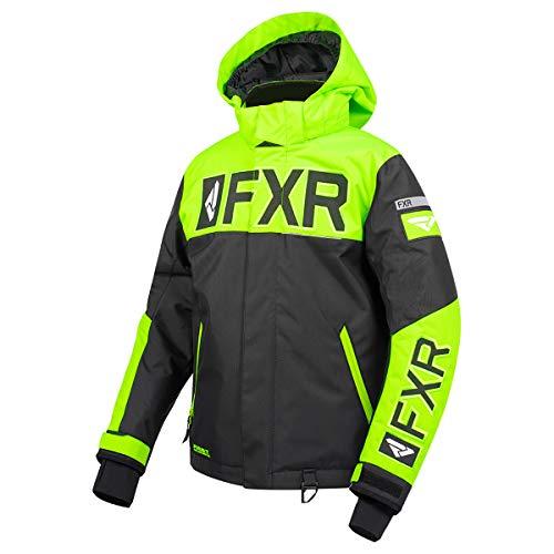 FXR Youth Helium Jacket (Black/Lime, Size 14)