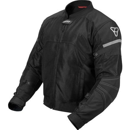 Pilot Motosport Men's Direct Air Mesh Motorcycle Jacket (V3) (Black, ()